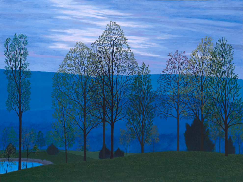 Blue Evening, oil on canvas, 21 x 28 inches
